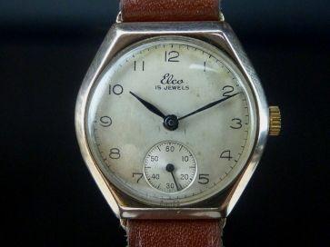 ELCO 9CT ROSE GOLD WATCH