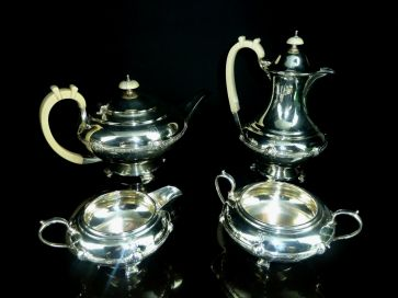 4 PIECE SHEFFIELD SILVER TEA SET